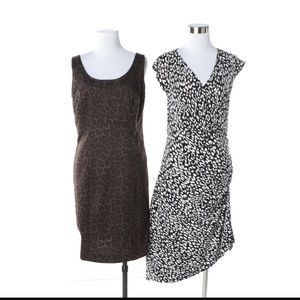 Michael Kors Black & White Leopard Dress